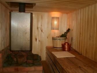 баня в доме либо отдельно гостевой домик с баней