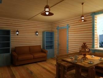 Красивый интерьер дома из натуральных материалов