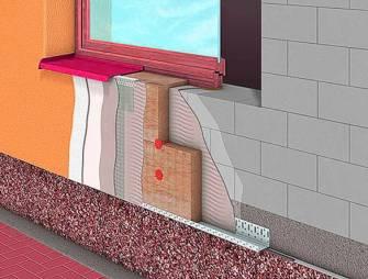 монтаж системы мокрый фасад