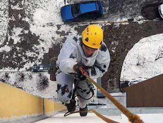 промышленный альпинизм на многоэтажных домах